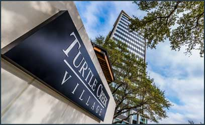 Turtle Creek village sign